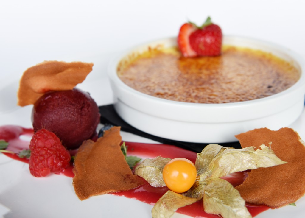 Crème brûlée van sereh & steranijs